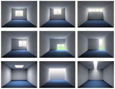 La iluminación natural en arquitectura. La luz natural y su efecto en un ejemplo de iluminación directa interior. Manuales, herramientas y guías