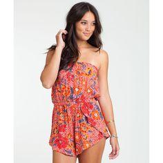 eb6808ec2b47 Billabong Women s Aloha Yo Desert Bloom Romper ( 20) ❤ liked on Polyvore  featuring jumpsuits