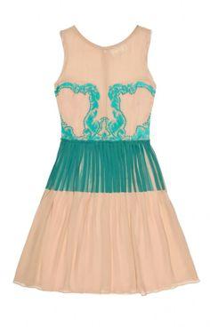 Jenna Paint and Lace Dress