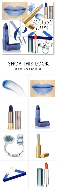 """""""Blue Glossy Lips"""" by ludmyla-stoyan ❤ liked on Polyvore featuring beauty, Lipstick Queen, Urban Decay, Maybelline, Beauty, Blue, LIPSTICK, lips and glossylips"""