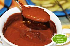 CHOCOLATE A LA TAZA CON NARANJA, CON THERMOMIX Flan, Chocolate Fondue, Mousse, Desserts, Yogurt, Custard, Mugs, Beverages, Cookies