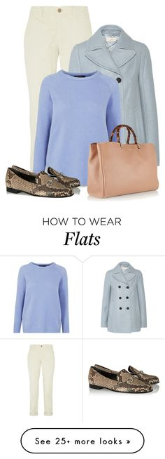 """""""Animal Print Flats"""" by bliznec on Polyvore featuring J Brand, Tory Burch, Weekend Max Mara and Gucci"""
