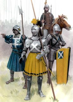 Flodden, 1513 • Border horseman, Lord Horne's contingent  • French sergeant  • William Graham, Earl of Montrose  • Professional soldier, Montrose's retinue