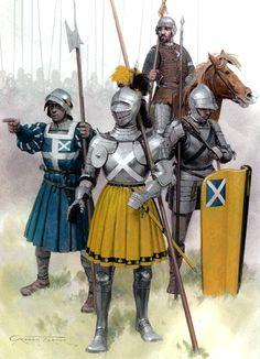 Flodden, 1513 • Border horseman, Lord Horne's contingent  • French sergeant  • William Graham, Earl of Montrose  • Professional soldier, Montrose's retinue