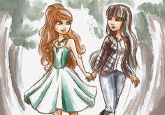 Две подруги идут домой и их пути расходятся , Эшли идёт в зачарованный лес , а Сериз идёт в жуткий лес , к себе домой !