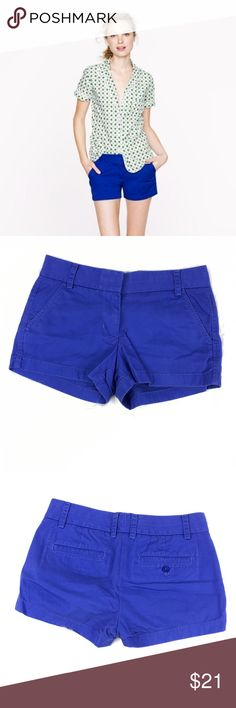 """J Crew Deep Blue Chino  Women's 3"""" Shorts Excellent condition super cute shorts. 28"""" Waist and 10.5"""" from waist to hem J. Crew Factory Shorts"""