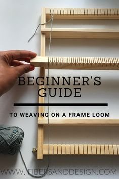 In this beginner guide to weaving on a frame loom you will learn basic weaving t. - In this beginner guide to weaving on a frame loom you will learn basic weaving terminology and techniques needed to get started and develop your skills. Weaving Loom Diy, Bead Weaving, Loom Weaving Projects, Tapestry Loom, Weaving Wall Hanging, Weaving Patterns, Stitch Patterns, Knitting Patterns, Weaving Techniques