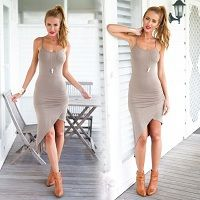 Find More Dresses Information about Summer 2015 New Womens Sexy Dresses Party Night Club Wear Dress Woman Low Neck Sleeveless Evening Elegant Dresses,High Quality dress yellow,China dress muslim Suppliers, Cheap dress for less prom dresses from Billion Praise on Aliexpress.com