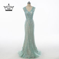 Cheap luxury dubai, Buy Quality robe de soiree directly from China evening dress Suppliers: Luxury Dubai Robe De Soiree Pearl Sequins Long Evening Dresses V-neck Mermaid Prom Dress Party 2017 Real Photos Serene Hill Event Dresses, Prom Party Dresses, Formal Dresses, Dress Party, Long Evening Gowns, Cheap Evening Dresses, Dubai, Foto Real, Mermaid Prom Dresses
