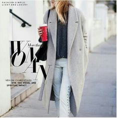 long grey coat