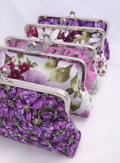 Spring Bridal Party Floral Clutch for Wedding Party Gift  Custom Made by JennyGirlDesigns