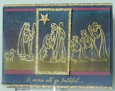 Burnished All Ye Faithful by MaryOJ - Cards and Paper Crafts at Splitcoaststampers
