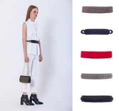 Various styles of waist belts for your fitted jacket..