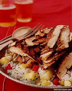 Jerk Chicken with Pineapple-Cilantro Rice