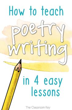 How to Teach Poetry Writing in 4 Easy Lessons, especially designed for elementary teachers Get Outstanding Poetry from Kids With 4 Simple Skills - The Classroom Key Poetry Lessons, Writing Lessons, Kids Writing, Writing Ideas, Creative Writing, Writing Checklist, Grammar Lessons, Writing Process, Teaching Poetry