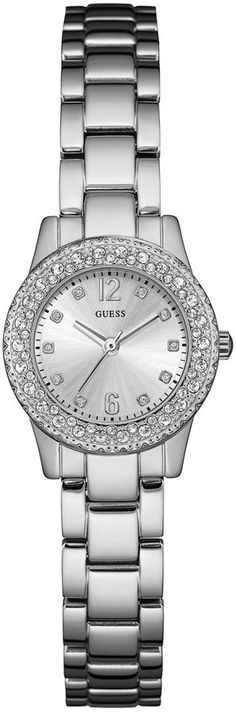 GUESS Women's Silver-Tone Petite Sparkle Watch. Watch fashions. I'm an affiliate marketer. When you click on a link or buy from the retailer, I earn a commission.