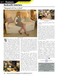 Interior Designer, Interior Design Firm and Showroom | BeckwithInteriors.com #beckwithinteriors #interiordesign #whoswhomagazine