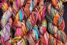 Cotton Kimono, Silk Kimono Robe, Floral Kimono, Kimono Jacket, Gypsy Look, Boho Look, Silk Ribbon, Silk Fabric, How To Make Tassels