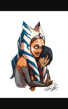 Ahsoka  and ezra  bridger  this  is  the  sweetest  thing ever!!!!!!