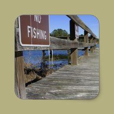 No Fishing Square Sticker