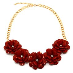 Rosa Flower Necklace