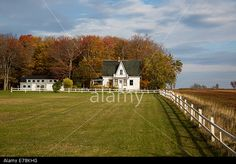 An old abandoned house on a farm yard in the fall. Stock Photo, Picture and Royalty Free Image. Pic. 73335068