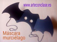 Máscara #murciélago.  Actividad para #Halloween que podrás realizar con niños de 5 años en adelante.