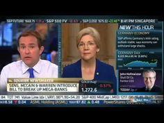 Elizabeth Warren fights for Glass-Steagall on CNBC!