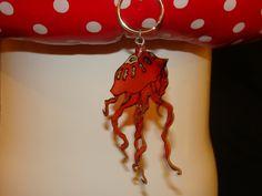 """Porte clés """"joli méduse"""" peint à la main : Porte clés par les-tresors-de-geraldine"""
