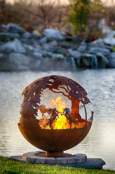 """""""WildFire"""" Horse Themed Fire Pit"""