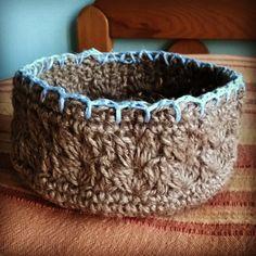 #cestino #uncinetto #spago e #cotone #crochet #basket #string and #cotton