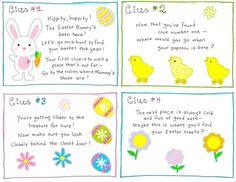Easter Egg Scavenger Hunt - love it!