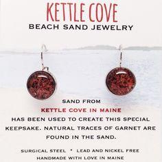 Kettle Cove Beach Sand Jewelry - Maine