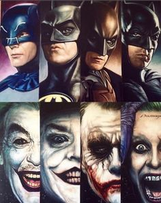 all of them....evil vs good......its ALWAYS good no matter who played them...or...who's the best.....they are still batman vs joker...good vs the bad......light vs the dark