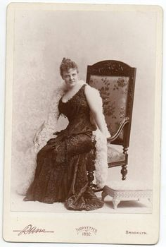 "Photograph by Dana of Cora Tanner; played Princess Ida in the 1884 authorized American production of ""Princess Ida"" in New York."
