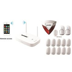 SecurityMan Mobile App Based Wireless Home Security Alarm System with 12 Sensors for Home and Office