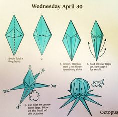 Origami octopus diagram