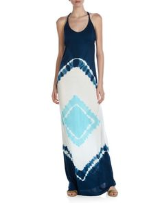 Tie-Dye Maxi Dress, Navy by Young Fabulous and Broke at Last Call by Neiman Marcus.