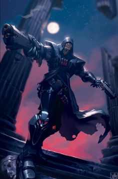 Reaper-Overwatch by Rooshie on Newgrounds Overwatch Reaper, Overwatch Comic, Overwatch Fan Art, Overwatch Drawings, Faucheur Overwatch, Live Action, Game Character, Character Design, Chibi