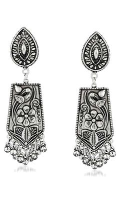 Carry your self ahead in style by carrying this Attractive Silver Oxide Color Brass Gold Plated Fashion Earrings. Sapphire Earrings, Stone Earrings, Women's Earrings, Designer Wear, Fashion Earrings, Blue Sapphire, Party Wear, Gray Color, Plating