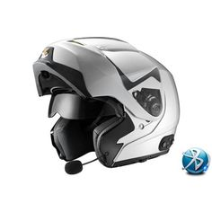 Galaxy Flip-Up Modular Motorcycle Helmet with Dual Shields and Bluetooth - Silver - GLX Helmets