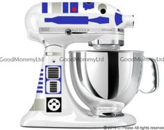 R2D2 Decal Kit for your KitchenAid Stand Mixer - Star Wars Inspired. @steffamie don't you need a kitchen droid? ;)