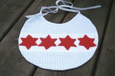 Chicago Flag Baby Bib and Booties by Stitch by StitchSewing, $27.00