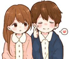 it's love 6 by toco Cute Anime Chibi, Anime Girl Cute, Cute Anime Couples, Anime Love, Cute Cartoon Wallpapers, Cartoon Images, Good Morning Cartoon, Cute Bear Drawings, Cute Couple Art