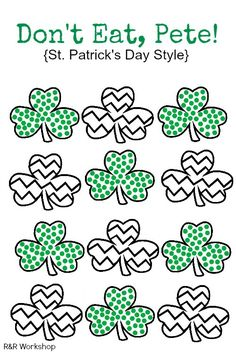 Don't Eat Pete- Free Printable! St. Patricks Day Game for kids