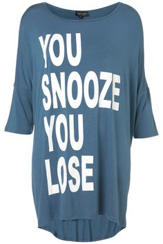 I need this to sleep in... a reminder to wake up and go running haha