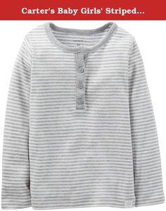 Carter's Baby Girls' Striped Henley (Baby) - Gray - 3 Months. Carter's Striped Henley (Baby) - Gray Carter's is the leading brand of children's clothing, gifts and accessories in America, selling more than 10 products for every child born in the U.S. Their designs are based on a heritage of quality and innovation that has earned them the trust of generations of families.