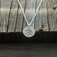 c7cb3e25d Items similar to Silver Om Pendant Necklace - Sterling Silver Yoga Jewelry.  Gifts for Her. Outdoor & Sportsman. Customize in different sizes, metals,  ...