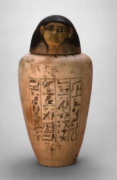 Egyptian    Canopic Jar of Amunhotep, Chief Builder of Amun, New Kingdom, Dynasty 18 (c. 1550-1292 B.C.)