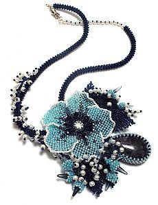 & Quot; Blue Hope & quot;  | Biser.info - all about beads and beaded works